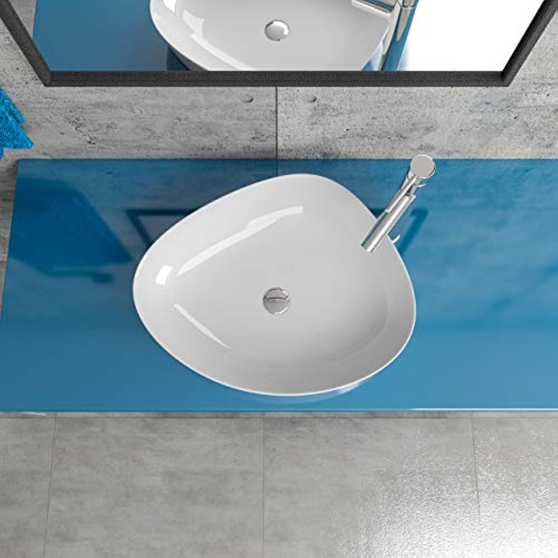Keramik Aufsatzwaschbecken Waschtisch Waschschale Waschbecken oval KB-K388
