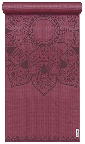 Yogistar Yogamatte Basic Art Collection Harmonic Mandala Bordeaux