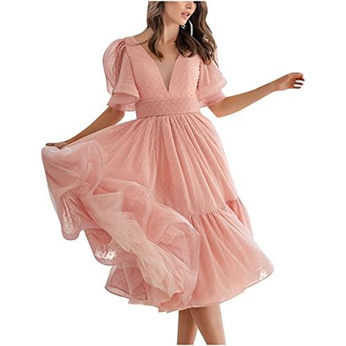 Vestido largo de la falda del color sólido del vestido de la honda elegante sexy de las mujeres de la manera