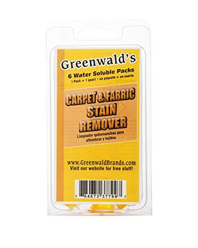 Greenwald's Carpet, Upholstery & Fabric Stain Remover - Easy Refills Make 6 32-oz Spray Bottles Guarantee