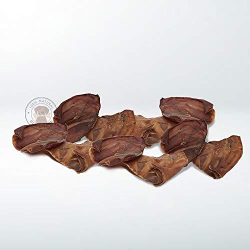 GESPETFOOD - Snack Natural para Perros - 1 kg. - 10 uds. - Orejas de Cerdo para Perros - 100% Carne de Cerdo - Sin OGM - Mantiene Las Encías Saludables - 100% Natural - Fabricado en España
