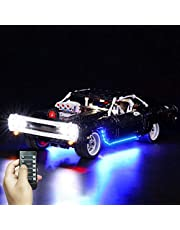 LYCH LED-verlichtingsset afstandsbediening voor LEGO 42111 Technic Fast & Furious Doms Dodge Charger racewagen model, verlichting compatibel met LEGO 42111 techniek, zonder Lego-set
