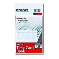 Rediform Employee Time Card, Weekly, 11cm x 18cm, 100 per Pad (4K409)
