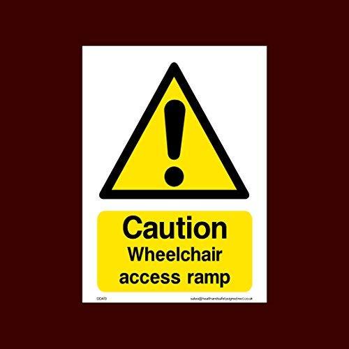 Voorzichtigheid rolstoel toegang Ramp teken Stickers Zelfklevende Vinly Waarschuwing Stickers Lable (Dda13) - Vuur, Uitgeschakeld, Rolstoel, Ramp, Parkeren, Noodgeval