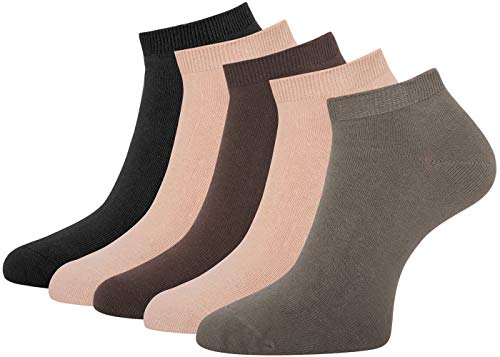 Herren Sneakersocken Schwarz Sneaker Socken Herren schwarz PRIME VERSAND KOSTENLOS Baumwolle bis Gr. 50, 10 Paar (47-50, 10 Paar beige/braun töne)