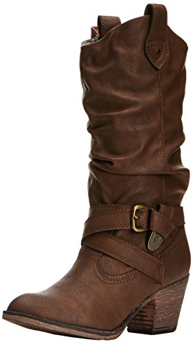 Rocket Dog Sidestep - Botas para mujer, Marrón (Chocolate), 36