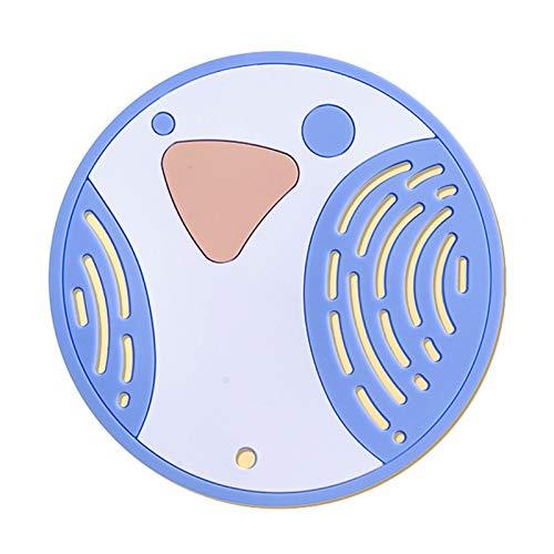 Portavasos Cuchara de silicona de grado alimenticio Playa Resistente al calor Playa de placas de vidrio Costera de vidrio Herramienta de cocina Anti-Scalding Nolips Pads Hot