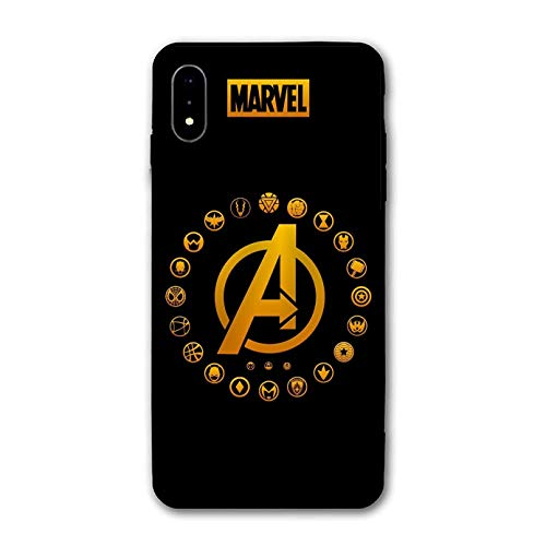 iPhone XR Case,Comics Anti-Scratch Ultra-Thin Mobile Phone Shell Custom for iPhone XR Only 6.1 inches (A-Avengers)