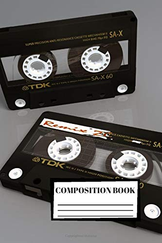 Composition Book: Music | Listen | Sing | 3D | Composition Notebook | 100 Wide Ruled Pages | Journal | Diary | Note | High Quality