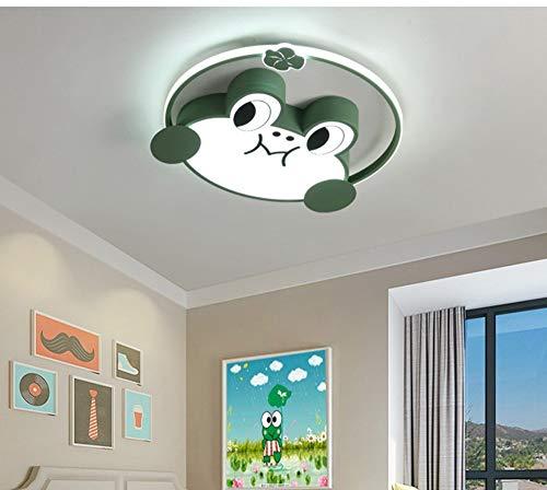 Lámpara De Techo Para Habitación Infantil,Led Lámpara De Techo Regulable,Plafón Led De Techo Con Mando A Distancia,rana, 50cm-60W,Luz Blanca