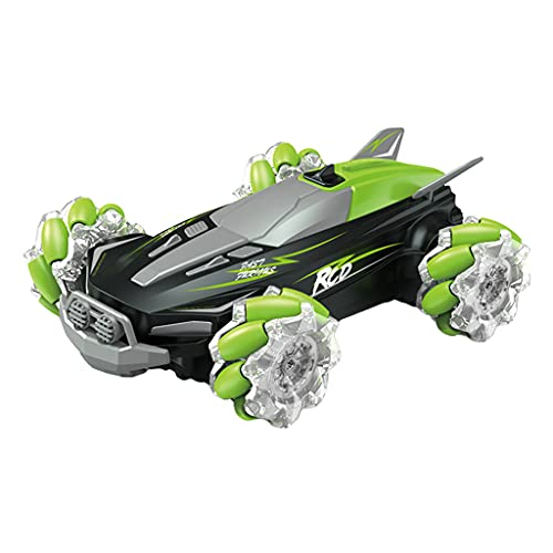 FITYLE Mini Sensor de Mano eléctrico Control Remoto RC Coche de Truco 2,4G Todo Terreno luz y Sonido Todoterreno 4WD 4x4 Coche de Carreras Grado de Juguete - Verde
