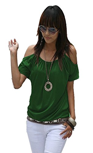 Mississhop Japan Style Damen Top T - Shirt Bluse Longshirt Tunika Tanktop Oberteil NATA grün L