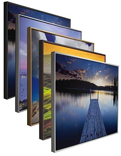 myposterframe Canvas Schattenfugenrahmen 70 x 100 cm Leerrahmen Eris für Leinwandbild MDF 100 x 70 cm Schwarz