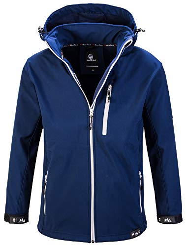 Rock Creek Herren Softshell Jacke Outdoor Jacke Windbreaker Übergangsjacke Anorak Kapuze Regenjacke Winterjacke Herrenjacke Jacket H-168 Navy 2XL