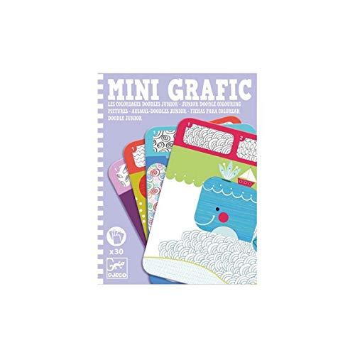 Djeco Mini Grafic Les coloriages Doodles Junior