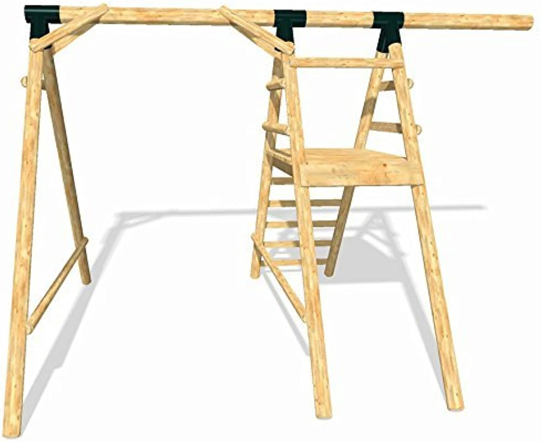LoggyLand 9158 - Holz-Schaukel-Grundgerüst ULTIMATE aus Lrche Duglasie, Hhe 2.60m
