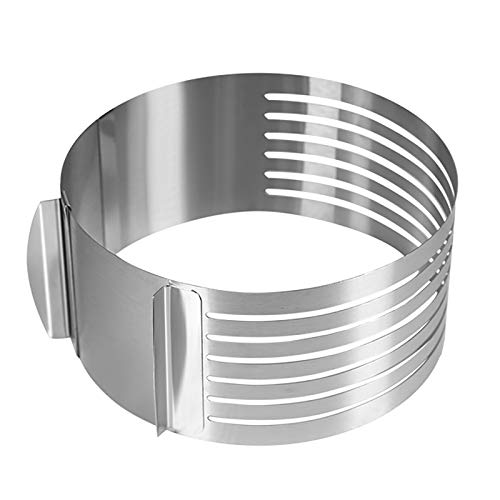 Round Stainless Steel Cake Cutters, Baking Mold Baking Frame Cake Ring Adjustable Slicers