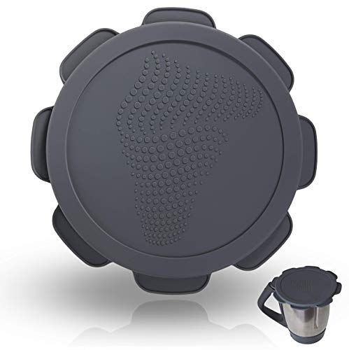 Silikondeckel wasser-, luft- und geruchsdicht für Thermomix TM5 TM6, BPA frei - das Original (Rollercoaster Grey)