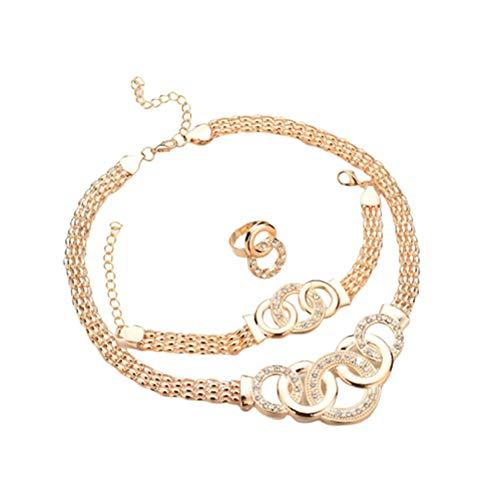 lffopt Collar Hombre Collar Festival Encantador Collar Collar único Collar de Moda Collar para mamá Collar de Oro