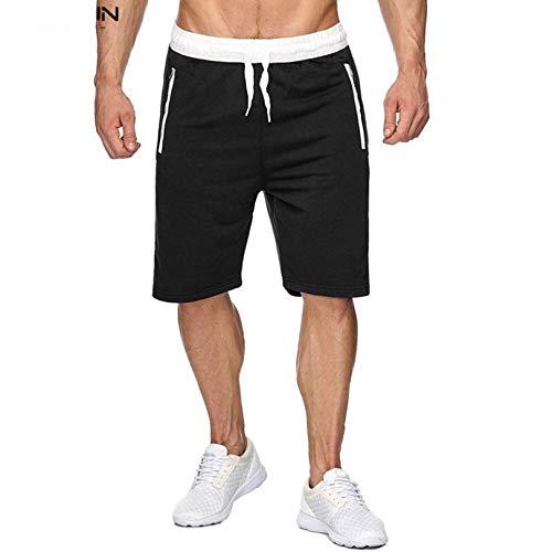JHJU Pantalones Deportivos de Hombre, Pantalones de Playa Finos de Verano, Pantalones Cortos Impresos Casuales XXL C