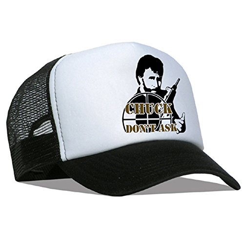 Bastart Casquette en maille Chuck Norris don't ask for/noir