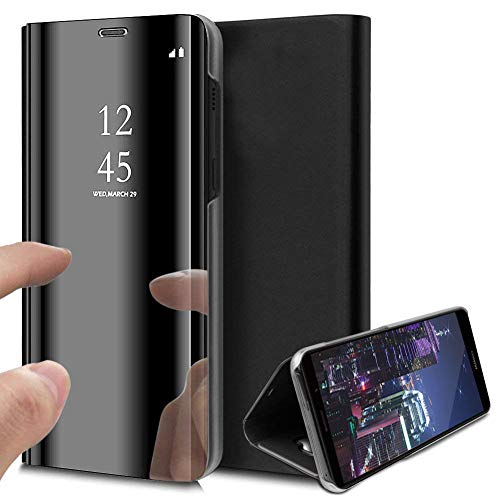 HMTECH Sony Xperia XZ Funda Espejo Mirror Cuero de PU Bookstyle Swag...