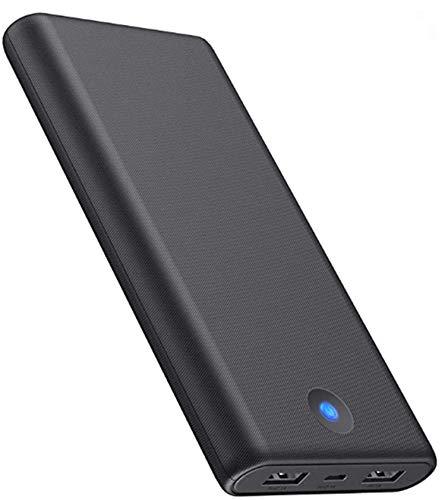 QTshine Powerbank Externer Akku 25800mAh, [2019 Modedesign] Kompakt Power Bank Power Pack, Hohe Kapazitat Tragbares Ladegerät, 2 Port Output kompatibel mit Telefon und Tablet