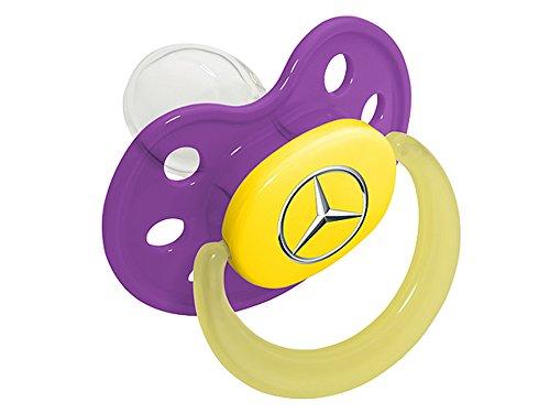 Mercedes-Benz,Schnuller lila, Kunststoff / Silikon