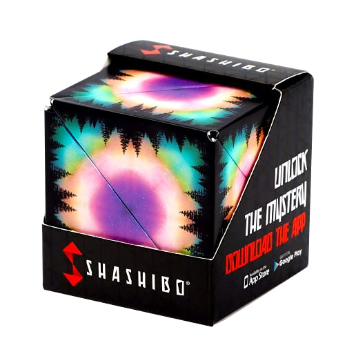 SHASHIBO Shape Shifting Box - Award-Winning, Patented Fidget Cube w/ 36 Rare Earth Magnets - Extraordinary 3D Magic Cube – Fidget Toy Transforms Into Over 70 Shapes (Moon - Explorer Series)