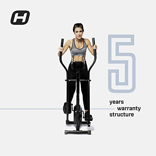 BT BODYTONE - DE10 - Bicicleta Eliptica para Fitness en Casa - Display Led y Pulsómetro - Peso Máximo Usuario 110 kg