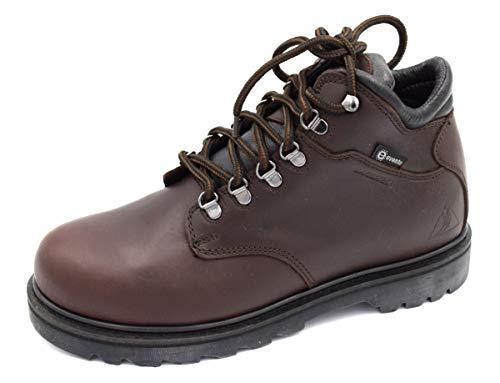 Daksteen Unisex dames heren jachtlaarzen Watzmann EV wandellaarzen outdoorlaarzen donkerbruin leer