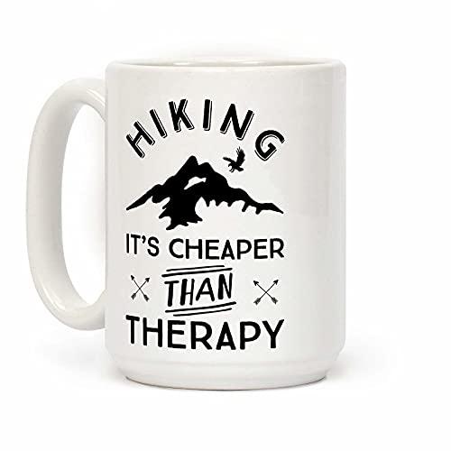 Wandelen Het Is Goedkoper Dan Therapie Witte 11 Ounce Keramische Koffiemok