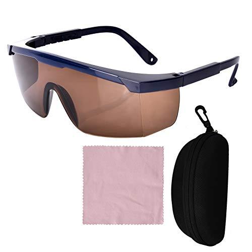 Yinhing Gafas de Seguridad láser 200nm-2000nm, Longitud de Onda Gafas de protección láser Violeta/Azul/Rojo para depilación láser Belleza y cosmetología Protección Ocular