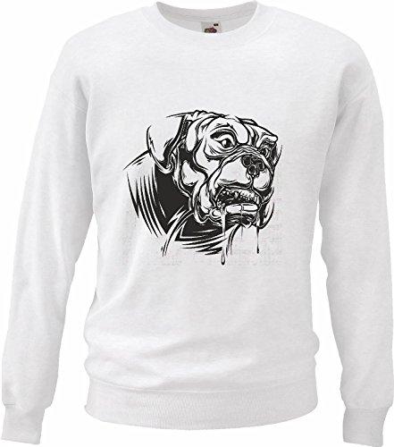 Hondenpullover Mastiff hondenhut hondenhut hondenhut hondenhut hondenmand hondenverzorging, wit