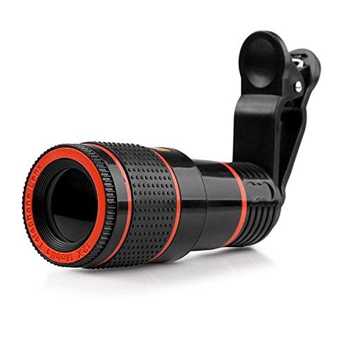 HANGANG 12X telescopische optische zoom telescopische universele handmatige focus afneembare telescopische clip-on camera telescoop voor iPad, iPhone smartphone