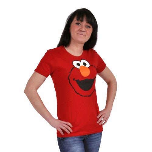 Camiseta de Elmo Faces de Barrio Sésamo, talla S