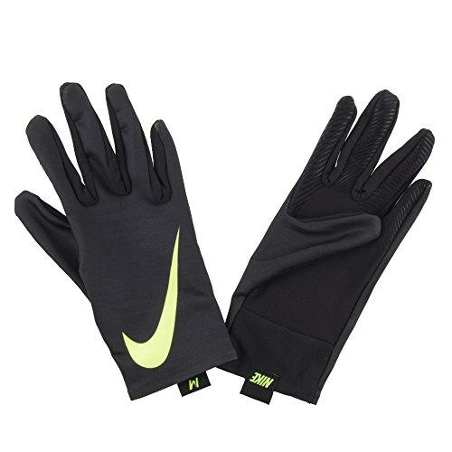 Nike Damen Pro Warm Liner Handschuhe, Black/Volt, M