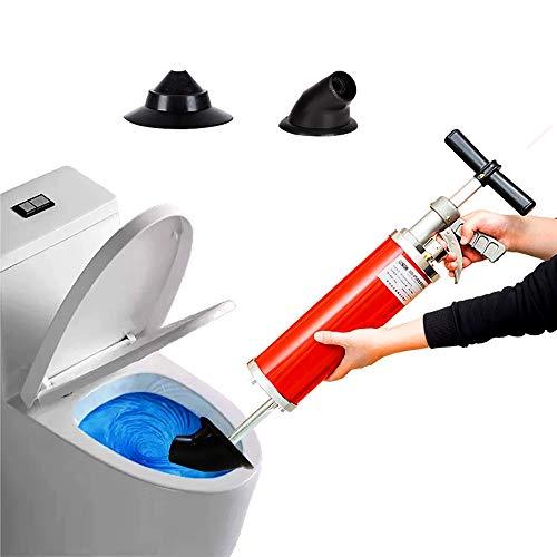 Industrial Saug Druckreiniger Abflussreiniger Zu Reiniger Zum Beseitigen Von Rohr Verstopfungen In Bad Küche Und WC Mit 2 Umrüstkopf 53.3 * 11.8cm
