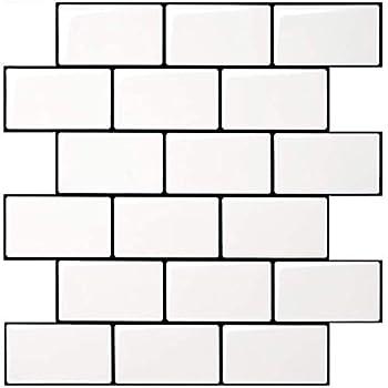 Art3d Subway Tiles Peel and Stick Backsplash  10 Tiles Thicker Design