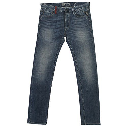 Replay, Lenrick Regular Slim, Herren Herren Jeans Hose Stretchdenim Blue Vintage W 31 L 36 [18410]