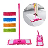 Parth Wet and Dry Cleaning Flat Microfiber Floor Cleaning Mop with Telescopic Long Handle Dry Mop, Standard (Multicolour)