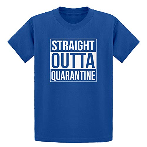Indica Plateau Youth Straight Outta Quarantine Youth L - (10-12) Royal Blue Kids T-Shirt