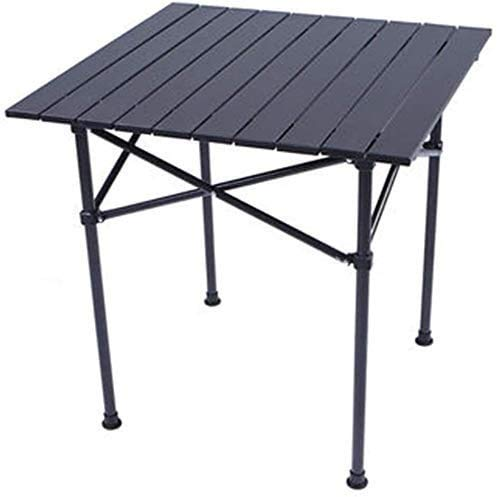COLOM Sun Lounger Patio Reclining Chairs Desk Table Folding Outdoor Table Portable Metal Table Advertising Display Table Stables Picnic Table with Bright Field (Color : Black, Size : 955869cm)