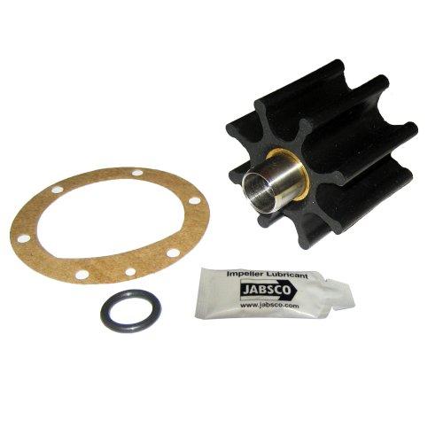 Jabsco 6056-0003-P, Nitrile, Drive Type 6, 8 Blade, 2-9/16 Diameter, 2 Width, 5/8 Shaft, Brass Insert, Black