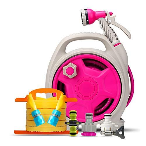 Tuinslang Nozzles Roze Spray Gun Watering Slangen Accessoires Ergonomische Trigger voor Plant Nozzles Spray Guns HUYP