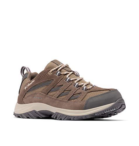 Columbia Women's Crestwood Waterproof Boot Hiking Shoe, Pebble, Oxygen, 9