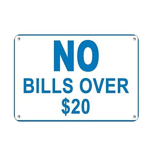 Schild Aufschrift Bills