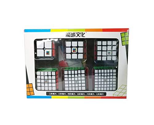 MoFang JiaoShi Pack de Cubos Moyu 234567 - Base Negra