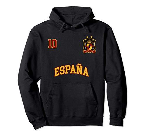 Equipo Deportivo Fútbol España No 10 Bandera Española Sudadera con Capucha