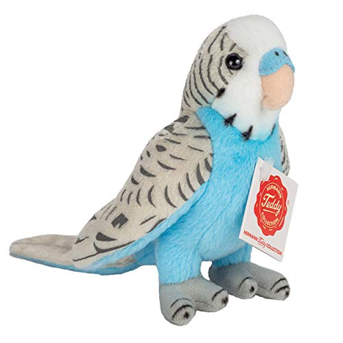 Teddy Hermann 94159 - Wellensittich, blau 13cm